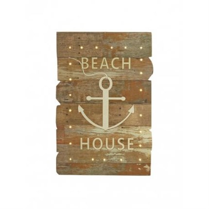 Pack 2 cuadros BEACH HOUSE luminosos