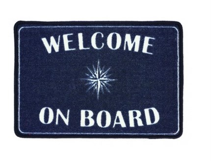 Pack de 2 alfombras  WELCOME ON BOARD