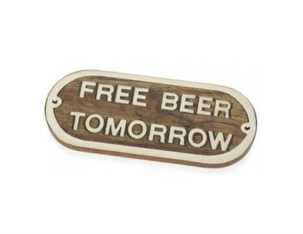 Pack de 2 placas FREE BEER TOMORROW