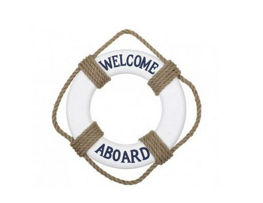 Pack de 2 Salvavidas WELCOME ABOARD 30cm