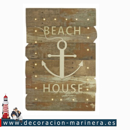 Cuadro Luminoso BEACH HOUSE