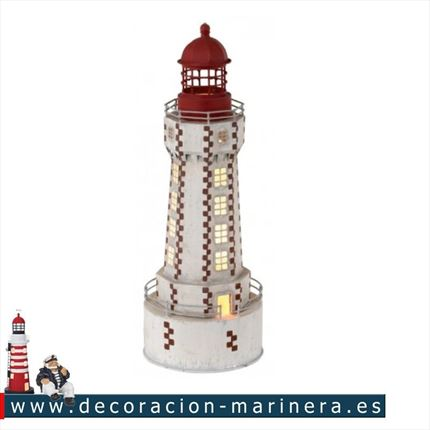 Faro ELECTRIFICADO decoración marinera 42cm