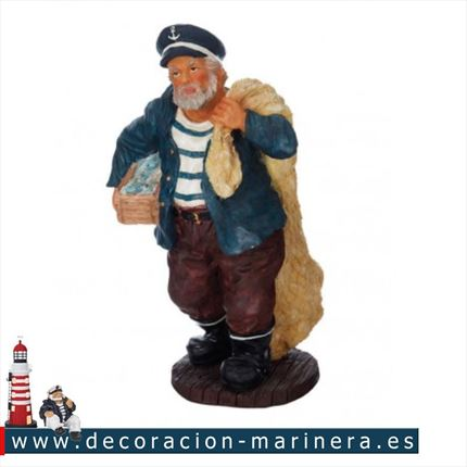 Figura marinero con red