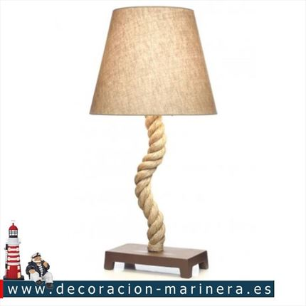 Lampara decorativa cuerda 71cm