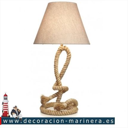 Lampara nudo decoración marinera