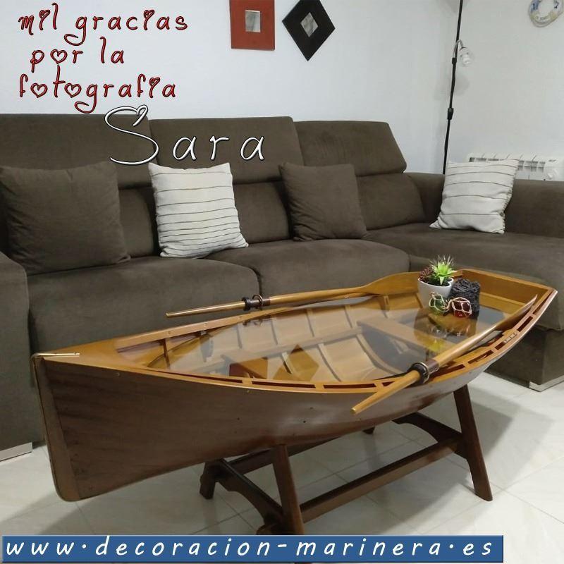 Mesita barca Decoracin Marinera