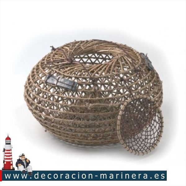 Nasa de pescador decorativa 40cm