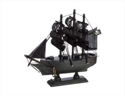 Pack 12 galeones pirata BLACK PEARL