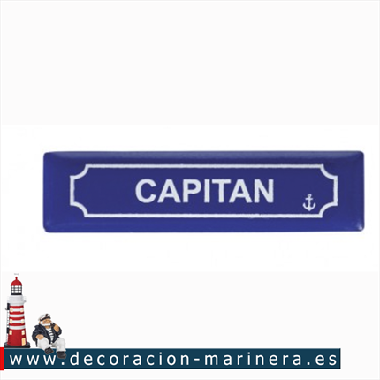 Pack 12 Imanes Placa CAPITAN