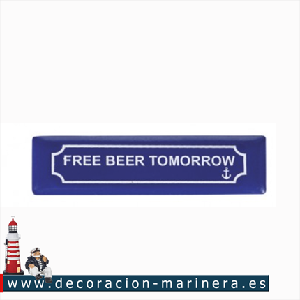 Pack 12 Imanes Placa FREE BEER TOMORROW