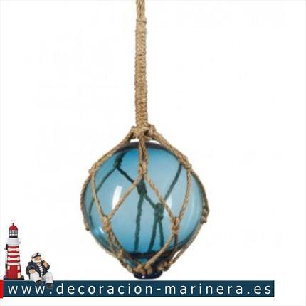 3 x red de vidrio barco de pesca flotadores Verde Rojo Azul-boyas Bolas-Baño 135 mm