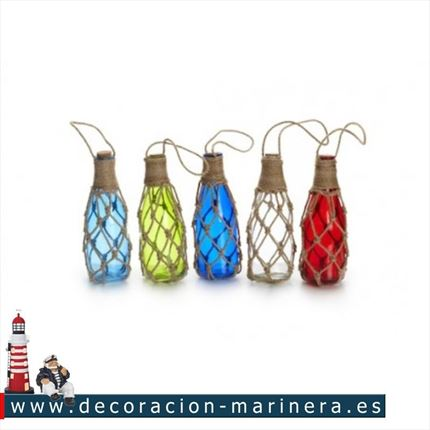 Pack de 10 botellas de colores 20cm