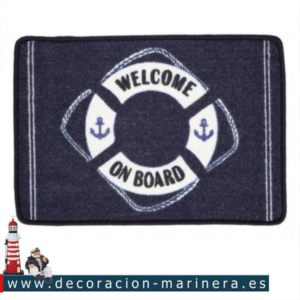 Pack de 2 alfombras náuticas WELCOME ON BOARD