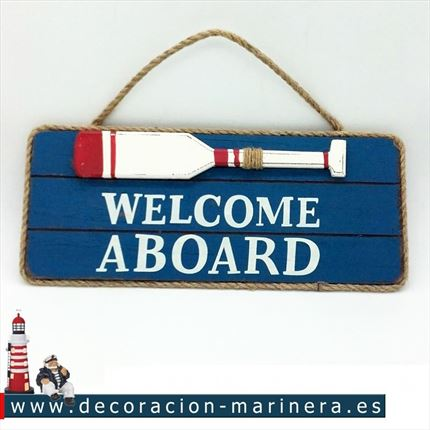 Pack de 2 Placas WELCOME ABOARD