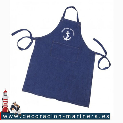 Pack de 3 'Delantal de cocina Welcome on Board'