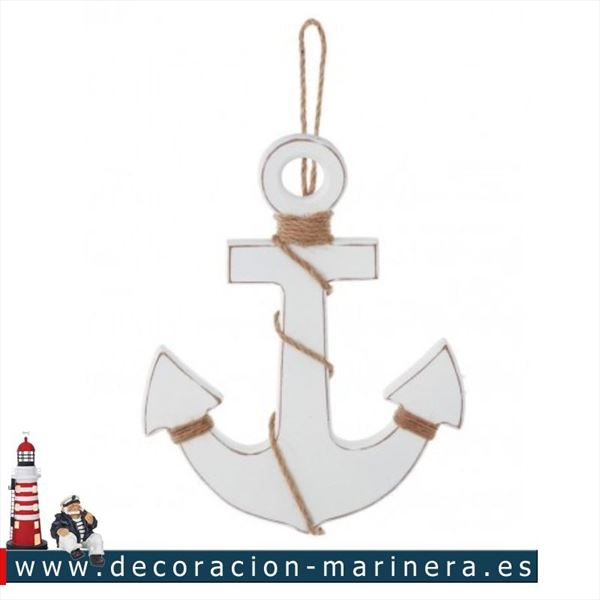 Pack de 6 anclas decorativas 25cm