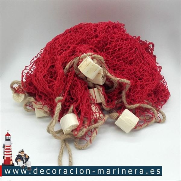 Red roja 340 x 340 decoración marinera (1)