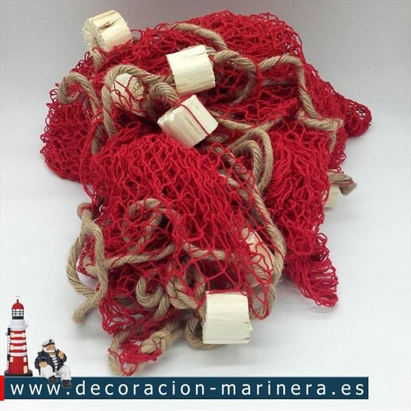 Red roja 340 x 340 decoración marinera (2)