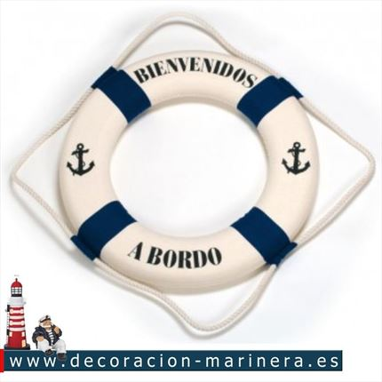 Salvavidas BIENVENUE A BORD/WELCOME ABOARD 82cm