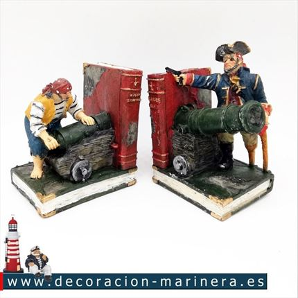 Sujetalibros decorativos PIRATAS
