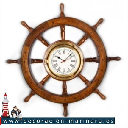 Timon de barco decorativo 63 cm